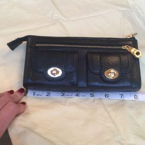 NWT Leather Clutch Wallet Black